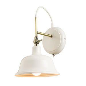 Endon OBI semi circulaire simple paroi lumière avec lin naturel ombre 70335