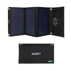 CHARGEUR - ADAPTATEUR  AUKEY Chargeur Solaire 21W avec 2 Ports USB, 5V 2A