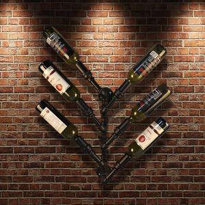 MEUBLE RANGE BOUTEILLE iKayaa Etagère à vin 6 bouteilles murale design st