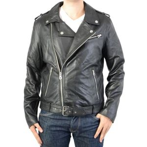 Veste en cuir homme redskins - Achat   Vente pas cher 3f0378c013b