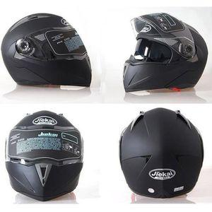 CASQUE MOTO SCOOTER Noir mat M-XXL casques de moto anti-poussière