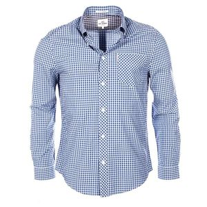 LS Micro Twill Floral, Chemise Casual Homme, Bleu (Navy Blazer 25), MBen Sherman