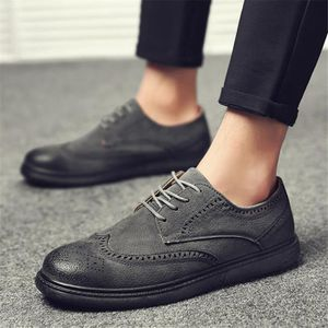 Derbies Hommes Meilleure Qualité Cuir Chaussure Rétro Chaussure Confortable Respirant Nouvelle arrivee Grande Taille 40-44 9bewK