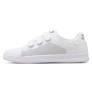 BASKET Velcro Chaussures Blanches Noir Rouge Pour Hommes