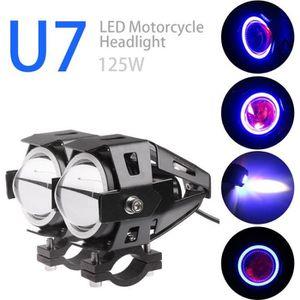 PHARES - OPTIQUES   2pcs crie U7 LED moto phare, Projecteurs Phare d