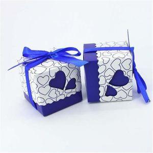 BOÎTE À DRAGÉES 100pcs cadeaux de bonbons de mariage carré favoris