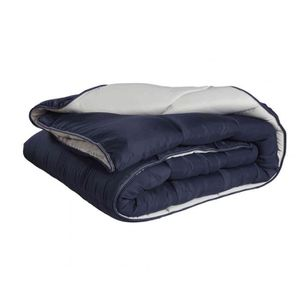 COUETTE Couette bicolore bleu marine-gris très chaude 550g