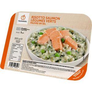 POISSON CUISINÉ Risotto surgelé saumon légumes verts, pauvre en se