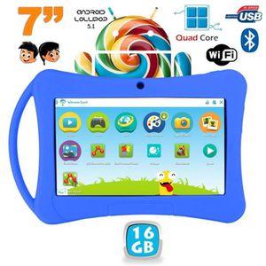 TABLETTE ENFANT Tablette enfant 7 pouces Android 5.1 Lollipop Blue
