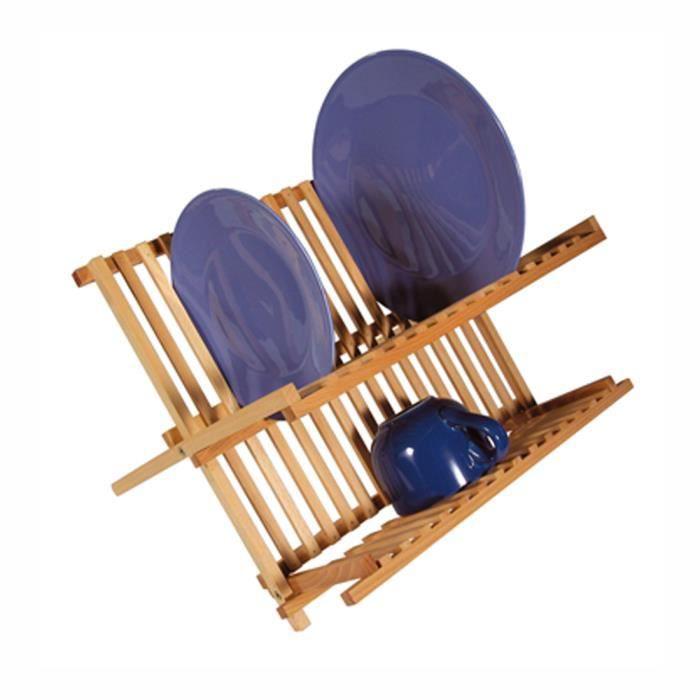 FRANDIS Egouttoir à vaisselle en bois pin massif 42x27,5x38cm marron