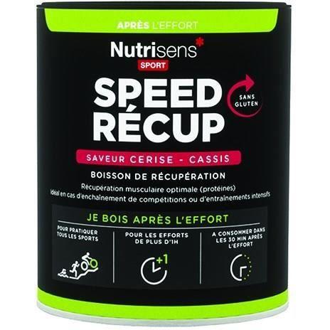 NUTRISENS Complément alimentaire - Pot de 400g pour préparation de boisson de récupération SpeedRecup - Cerise/cassis