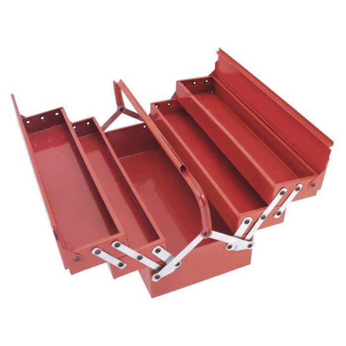 COGEX Caisse à outils vide métal 5 compartiments