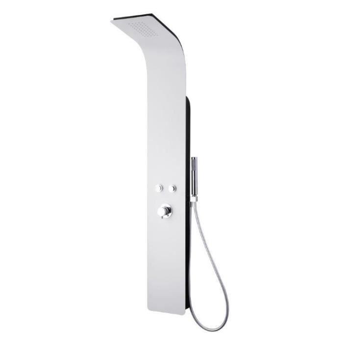 ESSEBAGNO Colonne de douche avec robinet mitigeur mécanique Esse Black&White - Noir et blanc