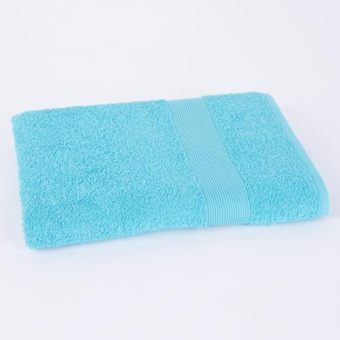 Drap de douche 70x140cm VIVA - 100% coton 500gr/m² - Turquoise - Production BelgeSERVIETTE DE BAIN - DRAP DE BAIN