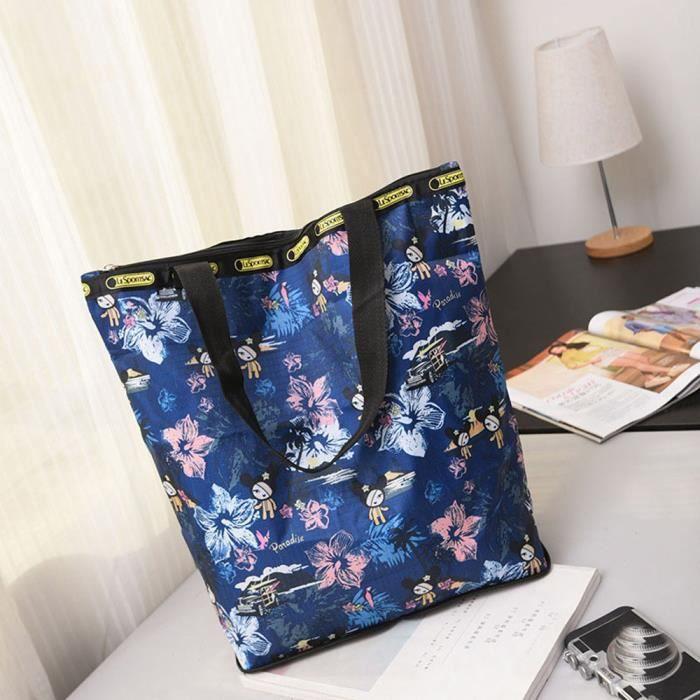deuxsuns®Sac de plage Imprimé floral de toile Sacs grande capacité populaire simple frais Multicolore SDM70726254Q
