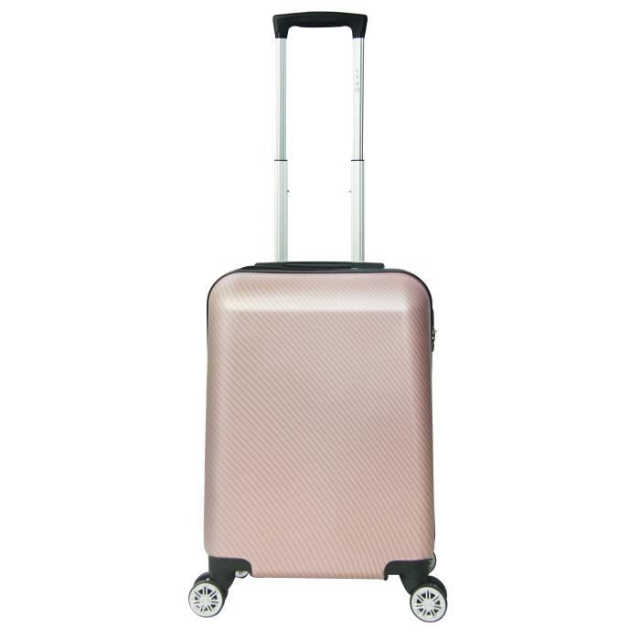 VALISE - BAGAGE LYS - Valise Cabine mixte Rose gold 55cm 4 Roues d