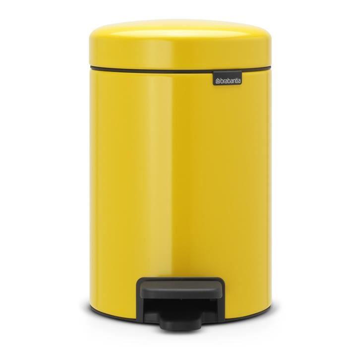 brabantia poubelle p dale newicon 3l jaune achat vente poubelle corbeille poubelle. Black Bedroom Furniture Sets. Home Design Ideas