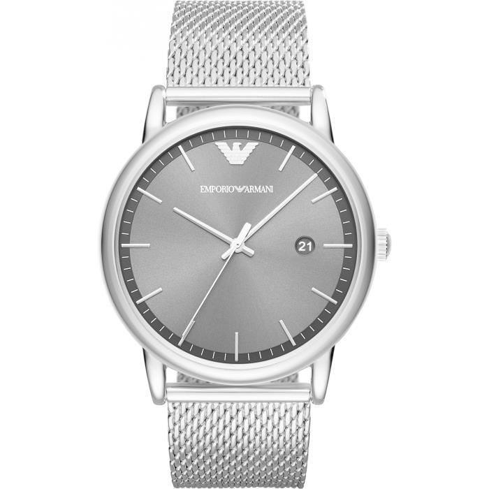 Pour Armani Zeiger Emporio De Bracelet Culminant Ar11069 Montre Hommes Design Point 3 Datum 9EDHI2