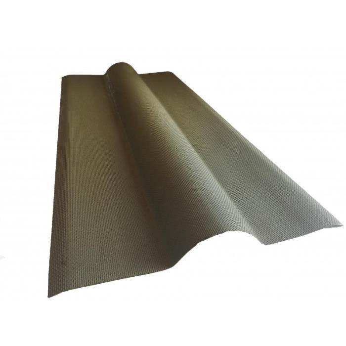 Faîtière Bitumée Pour Toiture Ondulée L 1 M L 44 Cm E 0 1 Cm Vert