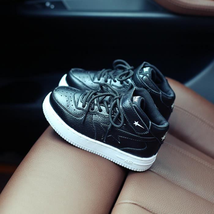 baskets Enfants Chaussures Garçon filles Mode cuir Chaussures de sport