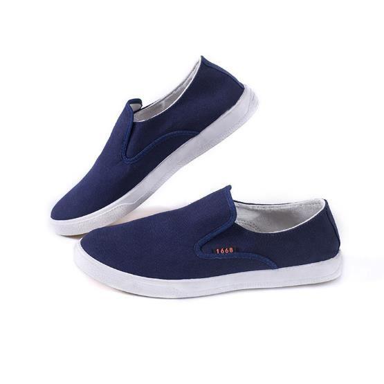 MOCASSIN Chaussures En Toile Hommes Basses Quatre Saisons P