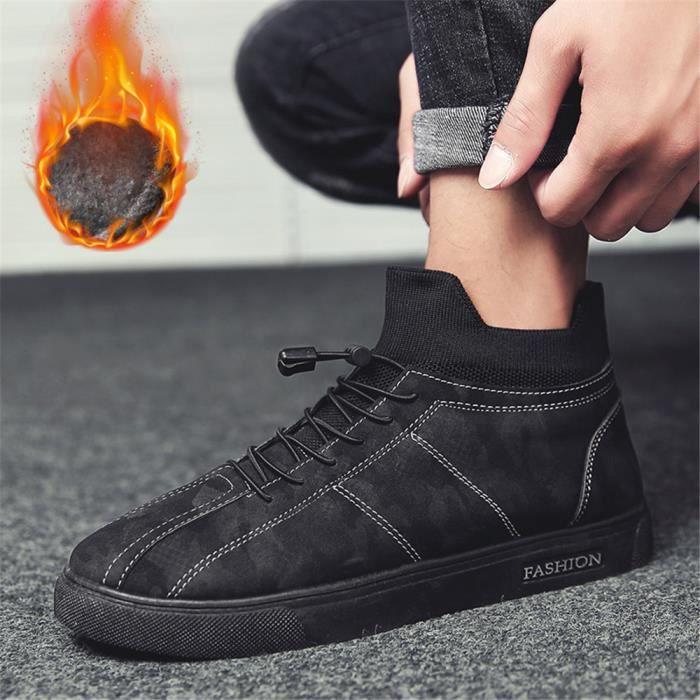 Sneaker Homme 2018 Extravagant Chaussure Couleur Unie Plus De Cachemire LéGer Chaussure Qualité Supérieure Classique 39-44 fb2OloA