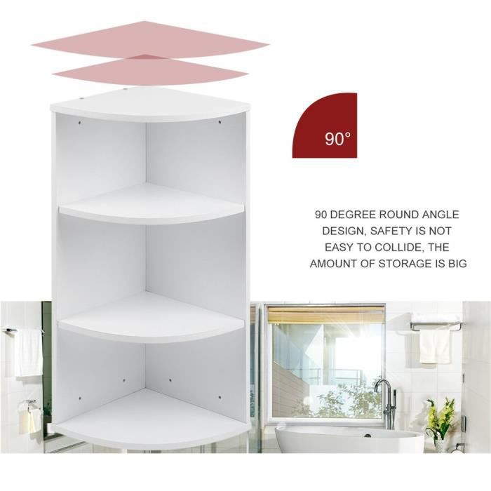 MEUBLE ETAGERE Salle de bains Espace de rangement Rangement d\'angle ...