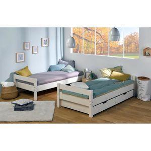 lits superposs lit superpos avec matelas et rangement 80x190 - Lit Superpose Avec Rangement