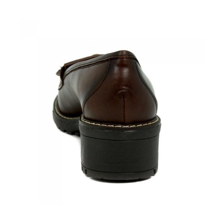 APLAUSO Chaussures Des Mocassins À Talons Hauts - Glands - Cuir - Cuir - Taille - Trente-sept Femme Ref. 1767_17447 pCLlH2czE