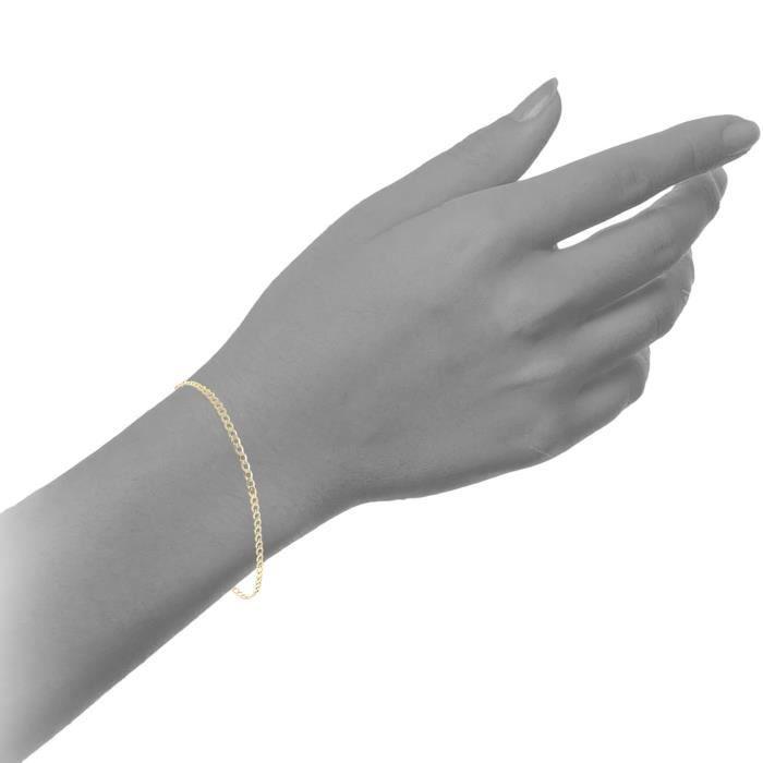 Ugz60 7.5 - Bracelet Femme - Or Jaune 375-1000 (9 Cts) 1.2 Gr SGNX9