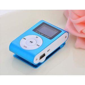 LECTEUR MP3 Mini lecteur MP3 USB clip Radio FM Support écran L