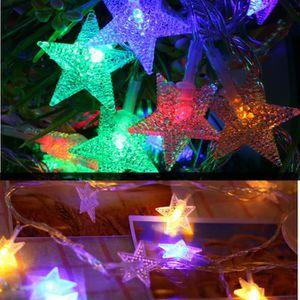 Extérieur étoile guirlande lumineuse à LED lumières de couleur à distance  HHA81009963MR_cbas
