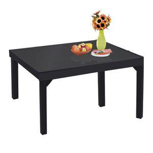 TABLE DE JARDIN  Table de jardin modulo noir 6 à 10 personnes en al