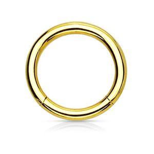 ANNEAU DE PIERCING eeddoo® - bijoux - piercing 1.2mm - 9mm - Or Acier