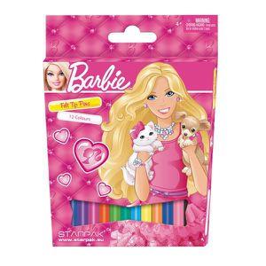FEUTRES 12 feutres de couleurs Barbie