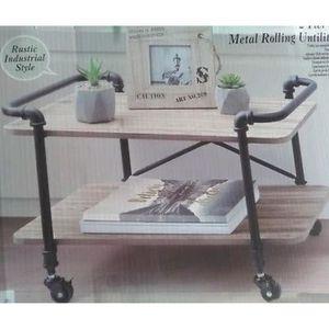 TABLE D'APPOINT ETAGERE MOBILE INDUSTRIELLE CUISINE SERVANTE METAL