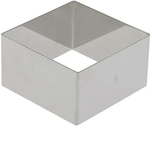 EMPORTE-PIÈCE  Cercle à entremets carré en inox, Longueur 12 cm