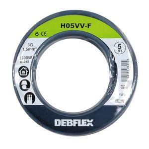 CÂBLE - FIL - GAINE Câble électrique souple ho5 vv-f 3g1,5 mm² (gris /
