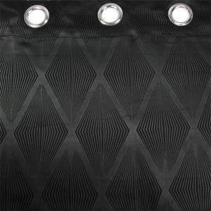 RIDEAU Rideau occultant (140 x H240 cm) Losange Noir - Co