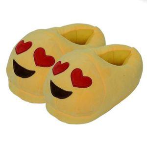 CHAUSSON - PANTOUFLE Mignonne Emoji forme de coeur Œil Œil Garder au ch