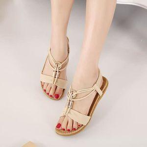 Sandales Femme été Chaussure Sandale KIANII® Apricot pzttXVSW