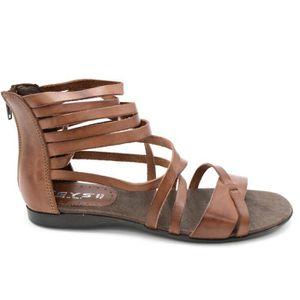 SANDALE - NU-PIEDS Keys Sandale schiava femme  cuir marrone a cavigli