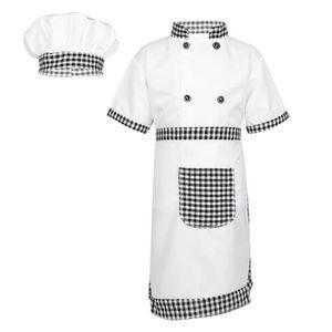 DÉGUISEMENT - PANOPLIE Garçons Filles Déguisement Chef Uniforme Blouse Ta