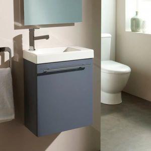 LAVE-MAIN Meuble lave-mains complet couleur gris anthracite