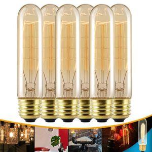 AMPOULE - LED TEMPSA Lot 6pcs E27 T10 60W Ampoule Edison Incande