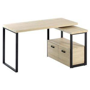 bureau d 39 angle avec rangement achat vente pas cher. Black Bedroom Furniture Sets. Home Design Ideas