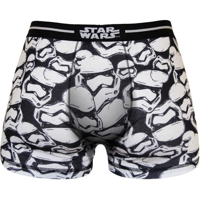 Boxer Homme Star Wars Imprimé Tête Imperial Trooper - Noir et blanc