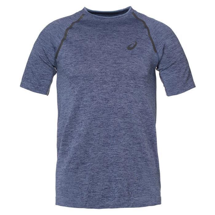 ASICS Seamless Tee shirt manches courtes Homme - Bleu