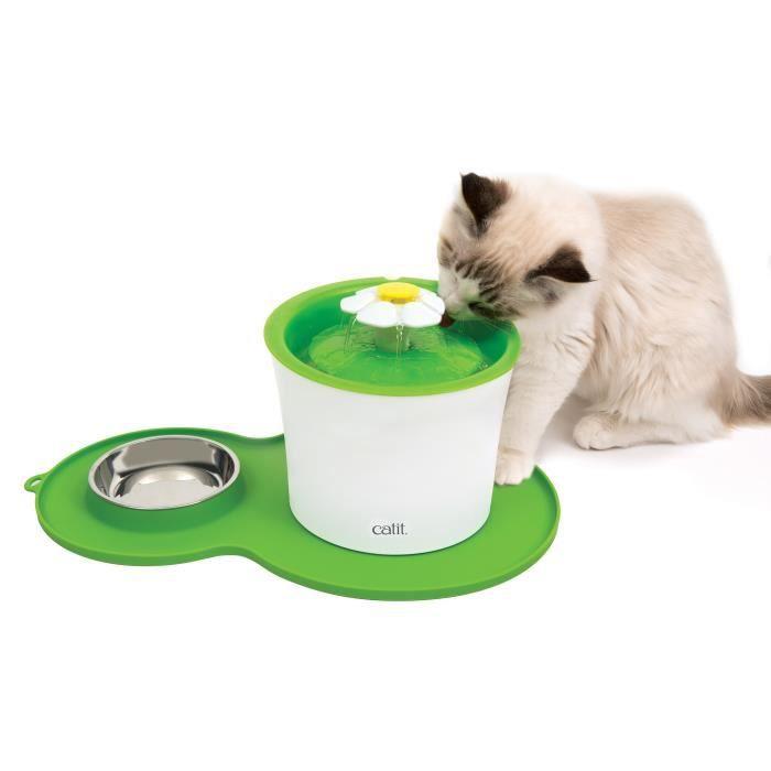 CAT IT Napperon en forme d'arachide - Format moyen - Vert - Pour chat
