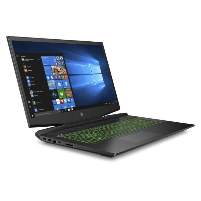 Hp pavilion gaming pc portable 17 cd0040nf 173 fhd i7 9750h 8go 1to hdd 256go ssd gtx 1660ti 6go freedos 3.0